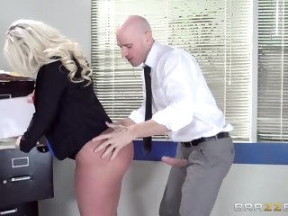 blonde big butt
